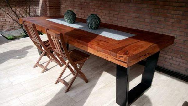 Mesa engrosada con marmol
